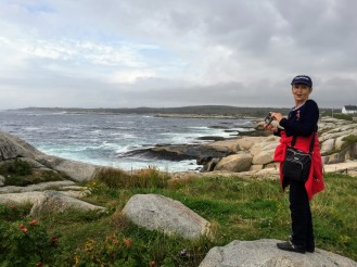Donna at Peggy's Cove