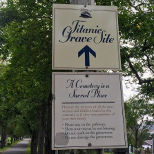 Sign for Titanic cemetary