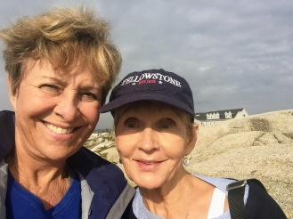 Susan and Donna at peggy's Cove